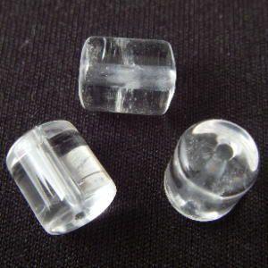 クリスタル(水晶)・円柱10mm・1個【天然石ビーズ】|regalo-gemstone