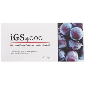 iGS4000 30カプセル フィジカル 真芽ブドウ種子成分 ブドウ種子 レスベラトロール
