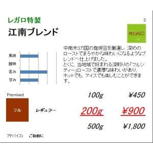 珈琲豆 同サイズ 3個まで同梱可 レガロ 江南ブレンド  100g|regalocoffee