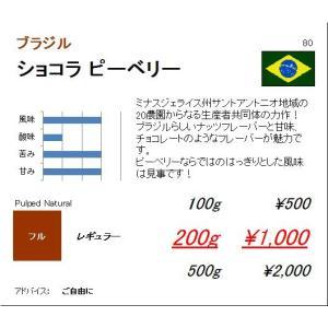 コーヒー豆 送料無料サービスキャンペーン中 ブラジル プレミアムショコラ ピーベリー 200g|regalocoffee