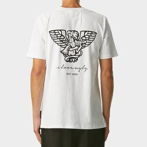 I LOVE UGLY アイラブアグリー Angel Tee ロゴTシャツ 半袖 ハーフスリーブ バックプリント クルーネック メンズ 19022000|reggie