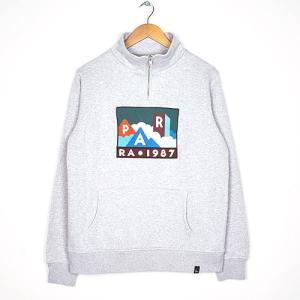 byParra バイパラ quarter zip pullover mountains of 1987 プルオーバースウェット ハーフジップ  刺繍 男性用 41970|reggie