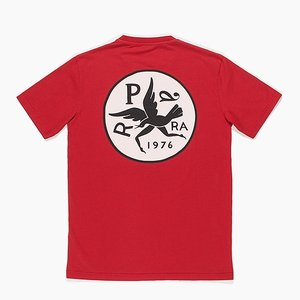 byParra バイパラ t-shirts upside down bird ロゴTシャツ 半袖 ハーフスリーブ バックプリント クルーネック メンズ 42120 reggie