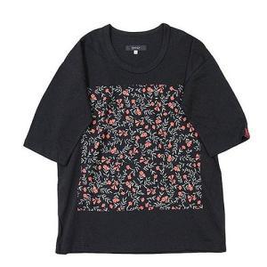 quolt クオルト GARDEN CUTSEW 花柄 Tシャツ カットソー ビッグシルエット ビッグT オーバーサイズ 901T-1296|reggie