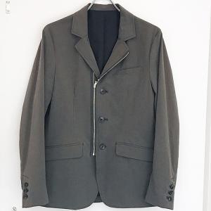 LiSS リス:ZIP tailored JK ジップテーラードジャケット セットアップ ナイロンジャケット メンズ 男性用|reggie