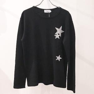 LiSS リス:STAR patchwork Sweat C&S スターパッチワークスウェットカットソー トレーナー カットソー メンズ 男性用 星柄 刺繍|reggie