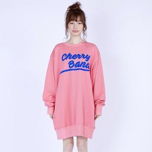 little sunny bite リトルサニーバイト Cherry band big sweater チェリーバンドビッグスウェット|reggie