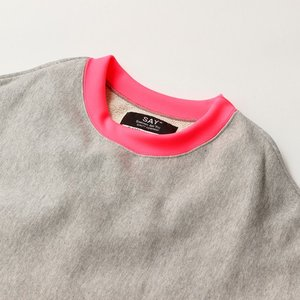 SAY セイ NEON RIB BIG SWEAT|reggie|10