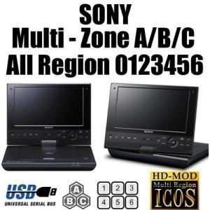 SONY 9インチ SX910 ポータブル リージョンフリープレーヤー ブルーレイ・DVD HDMIケーブルセット 海外DVD・ブルーレイが視聴可能
