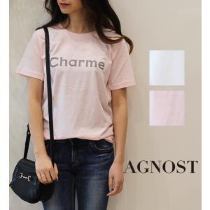 【SALE】AGNOST(アグノスト)カラーロゴTシャツ
