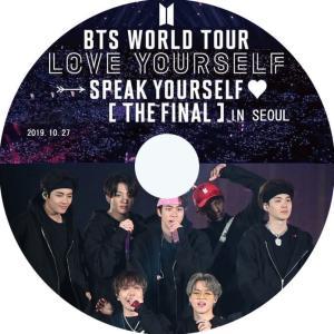 【韓流DVD】BTS【2019 WORLD TOUR 'LOVE YOURSELF: SPEAK YOURSELF' 】2019.10.26~27 THE FINAL IN SEOUL 3枚SET  (日本語字幕) ★ 防弾少年団 rehobote