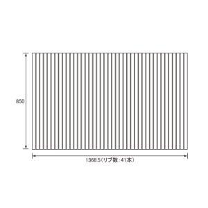 パナソニック Panasonic(松下電工 ナショナル) 風呂ふた(ふろふた フロフタ) 巻きふた GA1451SC (GA1451Sの代替品) 850×1368.5mm (リブ数:41本) rehomestore