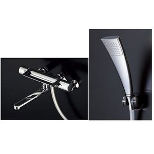 TOTO 浴室蛇口 壁付サーモシャワー混合水栓 GGシリーズ 浴槽/洗い場兼用 エアイン(めっき)シャワーヘッド アーチハンドル TMGG40QEC rehomestore