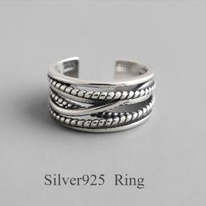 新作 silver925 フリーサイズ シルバー リング 指輪 レディース レイヤード 太 幅広 デザインリング おしゃれ 幅太 プレゼント|rei-official