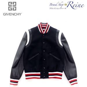 ジバンシィ(GIVENCHY) ロゴ ウール レザー ボンバー ジャケット #48 17F0301 新品|reine-web