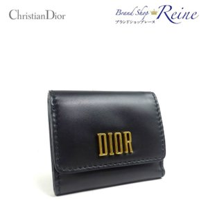 50956659cce7 クリスチャンディオール(Christian Dior) ディオール ロゴ 三つ折り コンパクト 財布 未使用品 【中古】