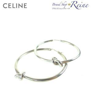 25396e27acec セリーヌ(CELINE) Large Hoops Knot ラージ フープ ノット ピアス 46N62 新ロゴ 新品