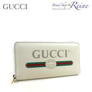 グッチ(GUCCI) ヴィンテージロゴプリント ラウンドファスナー 長財布 496317 新品