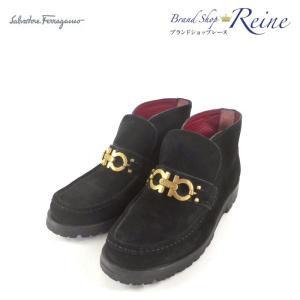 サルヴァトーレフェラガモ(Salvatore Ferragamo) ガンチーニ ショート ブーツ #5 23cm 美品 【中古】 reine-web