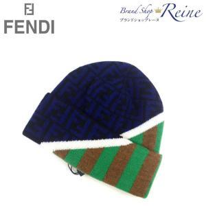 フェンディ(FENDI) FF ロゴ ズッカ ペカン ニット帽 ウール 帽子 キャップ FXQ056 新品|reine-web