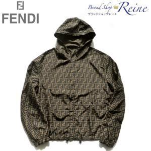 フェンディ(FENDI) FF ロゴ ペカン リバーシブル ナイロン パーカー ウインドブレーカー FAA615 #50 新品|reine-web