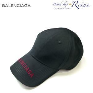 バレンシアガ (BALENCIAGA) クラシック ロゴ 刺繍 ベースボール キャップ 541400...
