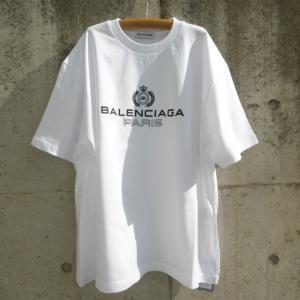 バレンシアガ(BALENCIAGA) BB パリ ロゴ プリント レギュラーフィットTシャツ 594599 XSサイズ 新品|reine-web