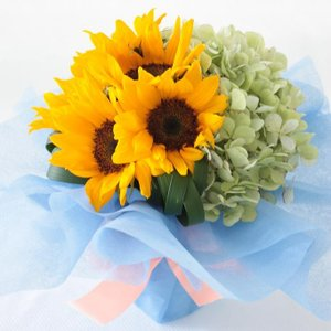 花束 ひまわり 誕生日 プレゼント 女性 母 父の日 ギフト 退職祝い 結婚祝い そのまま飾れるひま...