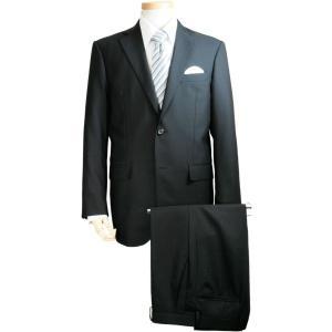 【数量限定】黒ブラックスーツ メンズ 2釦シングル ノータック オールシーズン対応 15022-1