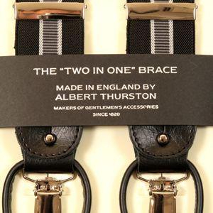サスペンダーのトップブランド ALBERT THURSTON アルバートサーストンのY型サスペンダー...
