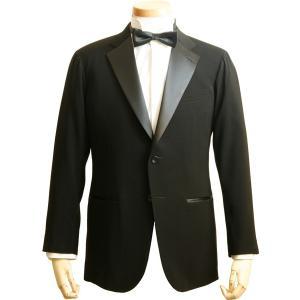 社交ダンス ジャケット タキシード シングル 2ボタン メンズ 濃染 黒 ブラック ダンス 衣装 上着 平服 日本製 6705|reisouclub