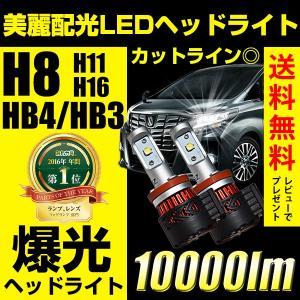 LEDヘッドライト フォグランプ H8/H11/H16/HB4/HB3/H10/H7/PSX26 10000ルーメン ハイビーム 抜群の配光精度 美麗なカットライン 送料無料 1年保証 reiz
