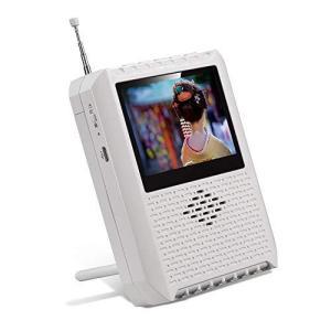携帯テレビ ポータブルテレビ ラジオ FM/AM/ワイドFM ワンセグポケット アンテナ内蔵 電池/...