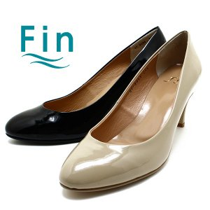 Fin/フィン 07-8661 エナメルアーモンドトゥパンプス ブラックエナメル/ベージュエナメル日本製/エナメル/パンプス relaaax