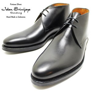 JALAN SRIWIJAYA ジャランスリウァヤ 98322 チャッカブーツ ダイナイトソール BLACK ビジネス/ドレス/紐靴/革靴/メンズ relaaax