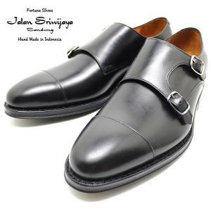 JALAN SRIWIJAYA ジャランスリウァヤ 98374 ダブルモンクストラップ ダイナイトソール BLACK ビジネス/ドレス/紐靴/革靴/メンズ relaaax