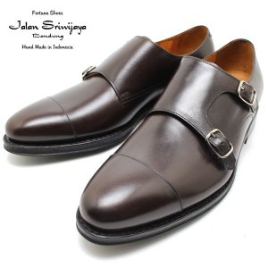 JALAN SRIWIJAYA ジャランスリウァヤ 98374 ダブルモンクストラップ ダイナイトソール ダークブラウン ビジネス/ドレス/紐靴/革靴/メンズ relaaax