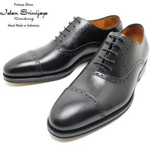 JALAN SRIWIJAYA ジャランスリウァヤ 98409 クオーターブローグ  レザーソール BLACK ビジネス/ドレス/紐靴/革靴/メンズ relaaax