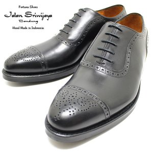 JALAN SRIWIJAYA ジャランスリウァヤ 98441 セミブローグ  ダイナイトソール BLACK ビジネス/ドレス/紐靴/革靴/メンズ relaaax