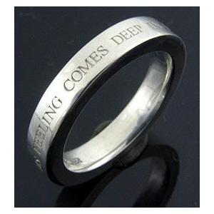 KENBLOOD ケンブラッド メッセージシルバーリング シルバー(KR-163 平打ちリング 指輪 メンズ レディース ユニセックスモデル)