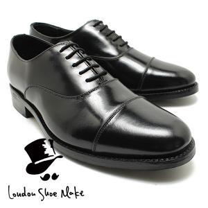 London Shoe Make/Oxford & Derby 8003 グッドイヤー内羽ストレートチップシューズ ブラック 本革ビジネスシューズ ビジネス/ドレス/紐靴/革靴/仕事用/メンズ|relaaax