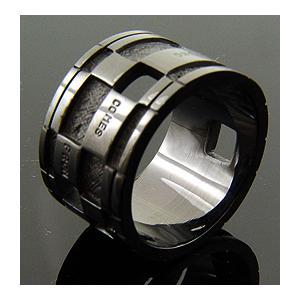 KENBLOOD/ケンブラッド 定番メッセージシルバーリング ブラックコーティング(NI-46/指輪/メンズ/レディース/ユニセックスモデル)|relaaax