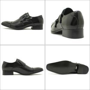 SARABANDE サラバンド ロングノーズ ダブルモンクストラップ ビジネスシューズ ブラックレザー (日本製 本革 革靴 ドレス メンズ)|relaaax|02