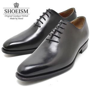 SHOEISM シューイズム 710D ホールカット BLACK ビジネス/ドレス/紐靴/革靴/メン...