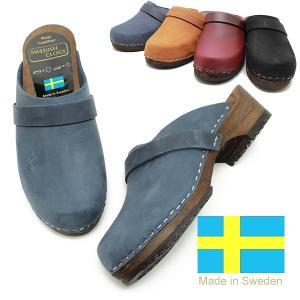 SWEDISH CLOGS スウェディッシュクロッグス EMMA-R ウッドサンダル レザー スウェーデン製 サボ サンダル  MOHEDA|relaaax