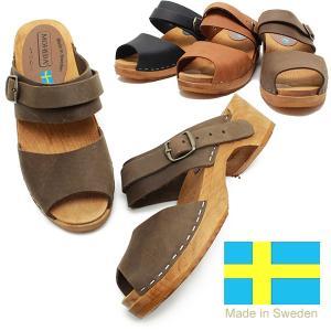 SWEDISH CLOGS スウェディッシュクロッグス PETRA61 ウッドサンダル レザー スウェーデン製 サボ サンダル  MOHEDA|relaaax