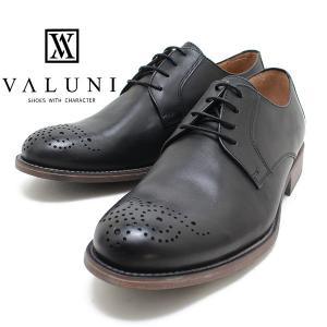 ヴァルーニ VALUNI 8831 ポルトガル製 メダリオン ソフトレザーシューズ ブラック バルーニ 本革 ドレスシューズ 革靴 短靴 インポート メンズ relaaax