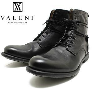 VALUNI/ヴァルーニ8191 ポルトガル製 8ホールレザーレースアップブーツ ブラック バルーニ/本革/ドレスシューズ/革靴/短靴/インポート/メンズ/男性用/ラッピング relaaax