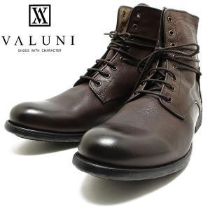 VALUNI/ヴァルーニ8191 ポルトガル製 8ホールレザーレースアップブーツ ブラウン バルーニ/本革/ドレスシューズ/革靴/短靴/インポート/メンズ/男性用/ラッピング relaaax