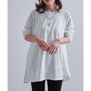 """☆大人の""""ゆるてろ""""長袖ビッグT☆  生地をたっぷりと使い、ゆるっと着られるビッグTシャツ。肩の落ち..."""